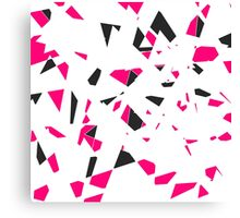 Pink, Black, and White Modern Geo Triangle Pattern Canvas Print