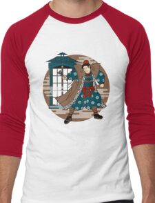 Sensei Who (Textured Version) Men's Baseball ¾ T-Shirt