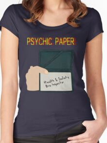 Psychic paper Women's Fitted Scoop T-Shirt