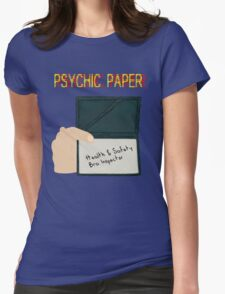 Psychic paper Womens Fitted T-Shirt