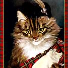 Vintage Highland Cat by simpsonvisuals