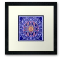 Gratitude and Compassion Mandala Framed Print