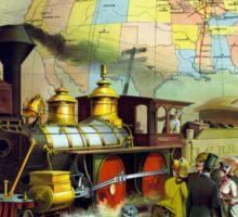 Vintage Transcontinental Railroad Sticker