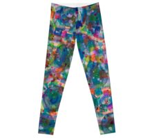 Circles And Squares under Clouds Leggings