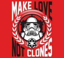 Make Love Not Clones Baby Tee