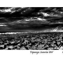 Topanga Sunrise BW by MjhArt