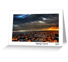 Topanga Sunrise Greeting Card