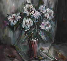 Still-Life with White Flowers by Stefano Popovski