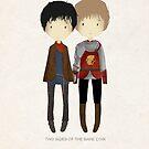 Cute Merlin and Arthur / MERTHUR by koroa
