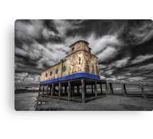 Lifeboat Station Colourised Canvas Print