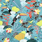 tropical birds by Tanor