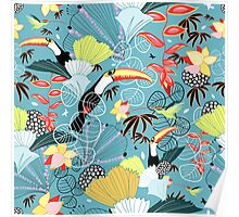 tropical birds Poster