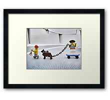 Pirate practice…with Rover Framed Print
