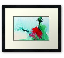 Red and Green Abstract 1 Framed Print