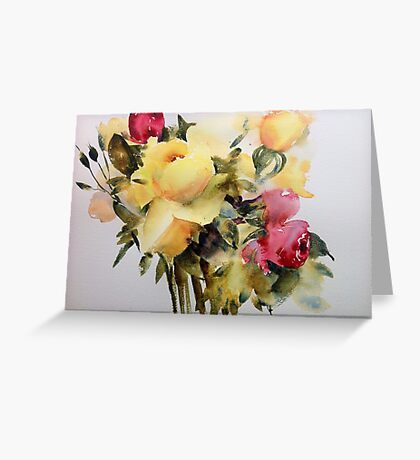 The yellow roses Greeting Card