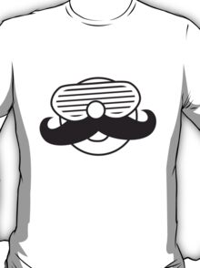 Funky Mustache Smiley T-Shirt