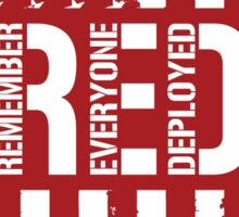 R.E.D. (Remember Everyone Deployed) Sticker