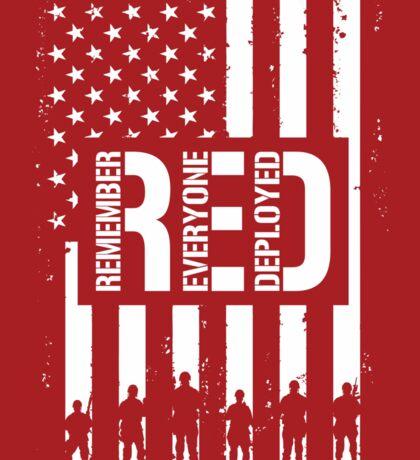 R.E.D. (Remember Everyone Deployed) Sticker
