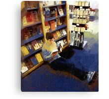Boy with a Book Canvas Print