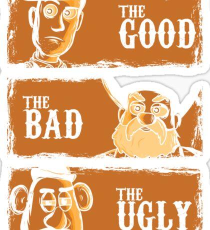 The Good The Bad the potato Sticker