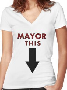 MAYOR THIS - Family Guy Tribute Women's Fitted V-Neck T-Shirt