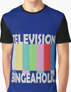 Television Bingeaholic funny nerd geek geeky Graphic T-Shirt