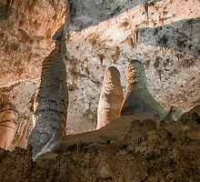 Room of the Giants-Carlsbad Caverns by Richard Thelen