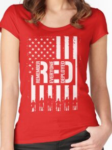 R.E.D. (Remember Everyone Deployed) Women's Fitted Scoop T-Shirt