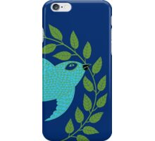 Bluebird with Green Garland  iPhone Case/Skin