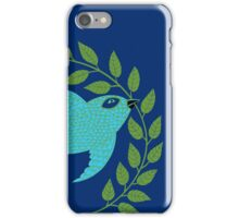 Bluebird with Green Garland  iPhone Case/Skin