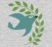 Bluebird with Green Garland  Kids Clothes