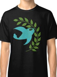 Bluebird with Green Garland  Classic T-Shirt