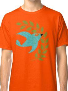 Bluebird with Green Garland  Classic T-Shirt