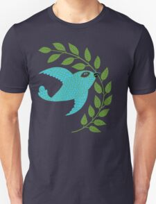 Bluebird with Green Garland  T-Shirt