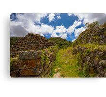 Inca Ruins, Cojitambo, Ecuador Canvas Print