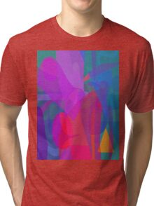 Reflections Green and Red Tri-blend T-Shirt