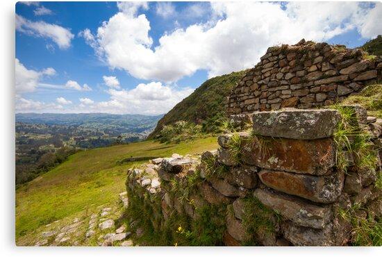 Inca Ruins, Cojitambo, Ecuador 2 by Paul Wolf
