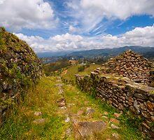 Inca Ruins, Cojitambo, Ecuador 3 by Paul Wolf