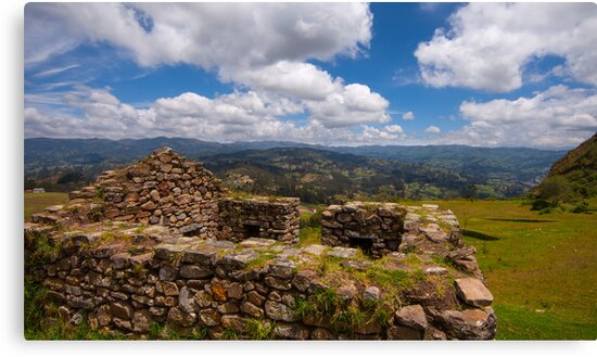 Inca Ruins, Cojitambo, Ecuador 4 by Paul Wolf