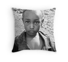 Captivating Girl Throw Pillow