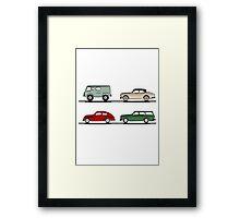 Volvo Lineup Framed Print