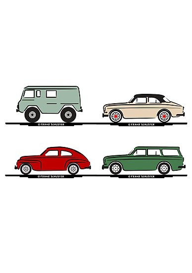 Volvo Lineup by Frank Schuster