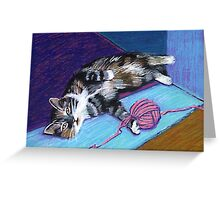 Cat and Yarn Greeting Card