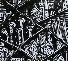Ink Sketch - Nine Cities. 2013 by Igor Pozdnyakov
