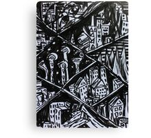 Ink Sketch - Nine Cities. 2013 Canvas Print
