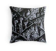 Ink Sketch - Nine Cities. 2013 Throw Pillow