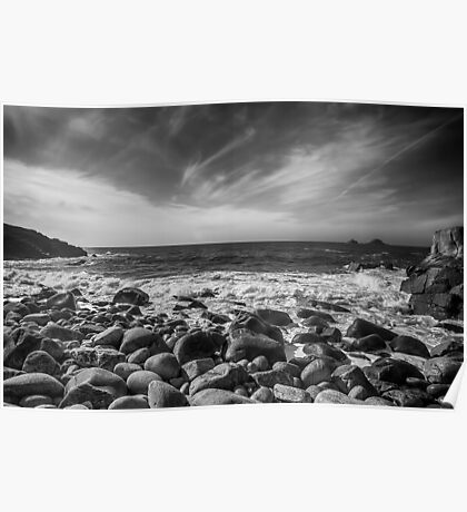 Cot Valley Porth Nanven 4 Black and White Poster
