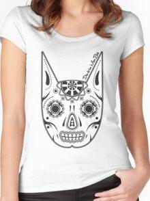 Dia de los ManBat - Hero sugar skull Women's Fitted Scoop T-Shirt