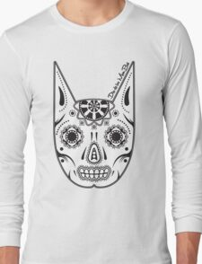 Dia de los ManBat - Hero sugar skull Long Sleeve T-Shirt