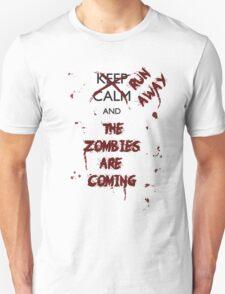 Keep Calm Zombies Black T-Shirt